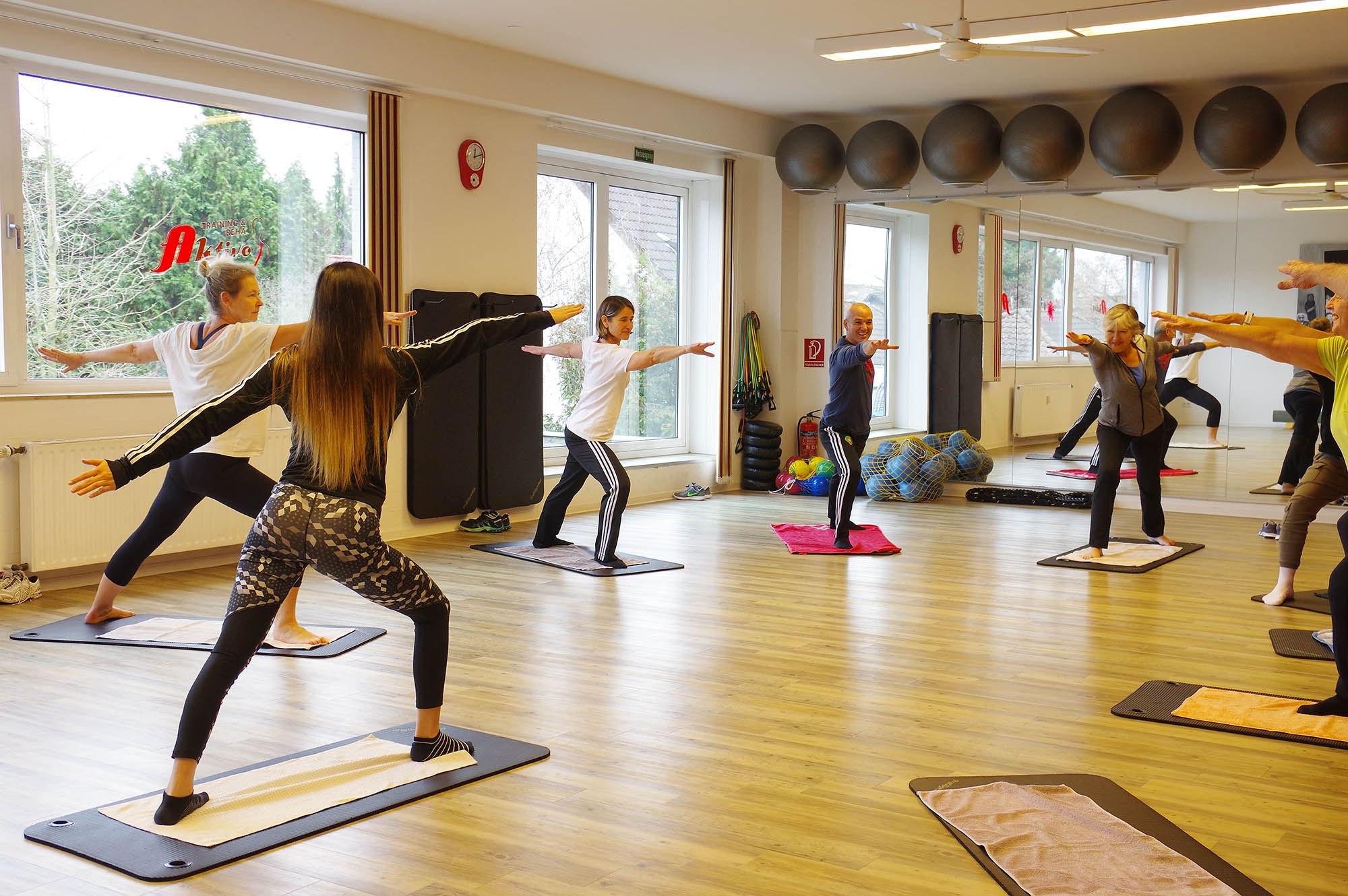 Yoga-Workshop im Aktivo mit Tina